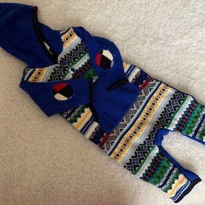 🆕  Baby Gap Blue hoodie Romper  NWT